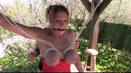 BDSM Breast Predicament Whipping Session for Bettine