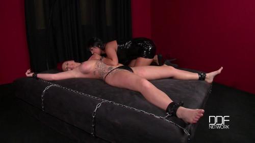 BDSM Latex Jasmine Black And Paige Delight - Strange Instrument Of Correction