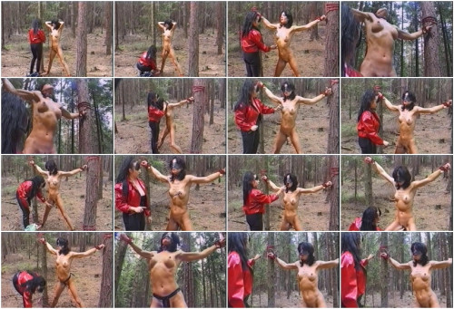 bdsm Torture in a wood