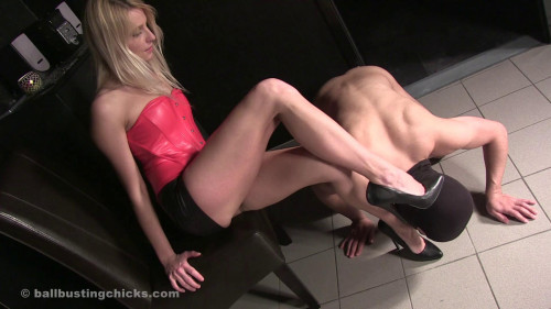 Femdom and Strapon Leg Domination