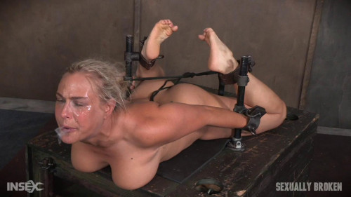 bdsm Big titted Blond Milf hogtied face fucked oblivian Tight bondage, deep throat, Orgasms (2016)