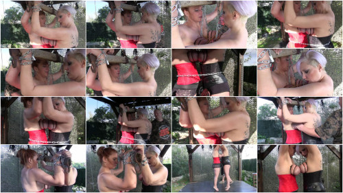 BDSM New Hard Outdoor Tit Adventure for Bettine and Nova Pink - Scene 2 - HD 720p