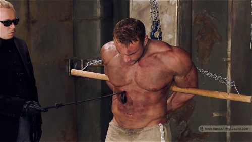 Gay BDSM Bodybuilder Roman in Slavery - Final