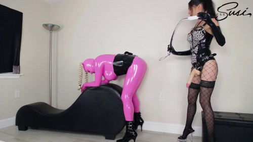 Femdom and Strapon MistressSusi - The Fucked Pink Rubberdoll Webcamshow