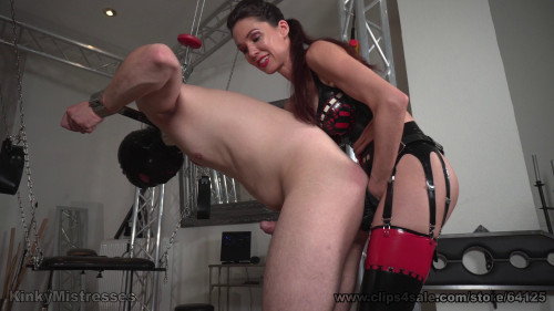 Femdom and Strapon MistressSusi - The Anal Virgin