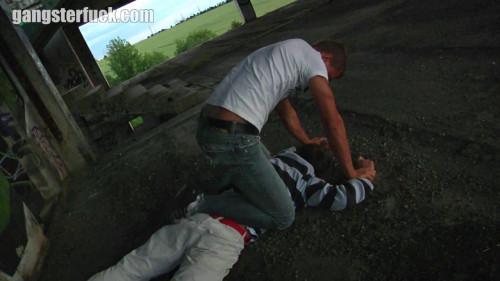 Gay BDSM Caning of a sprayer 1