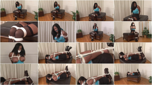 bdsm Bound and Gagged - Maxine X Hogtied with Two-Layer Gag
