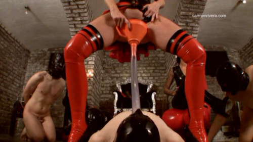 Femdom and Strapon Three connected and the two dominant