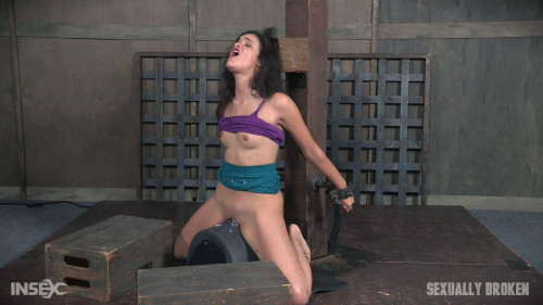 bdsm The Amazing Eden Sin Bound on a Sybian