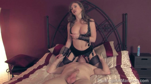 Femdom and Strapon Wifes Sexual Tease
