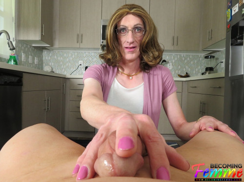 Horny CD Housewife Sucks You Off In The Kitchen