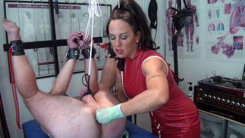 Femdom and Strapon And I got to the medical torture