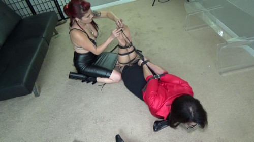 BDSM Young dominatrix destroys nosy neighbor lady