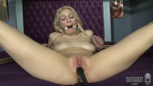 BDSM Alli Rae - Hogtied, Spread and Stuffed