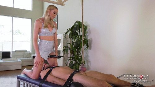 Femdom and Strapon German Cock Tease