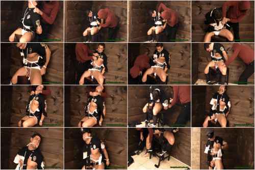 Gay BDSM Police Officer Ripped & Stripped -  Part 2