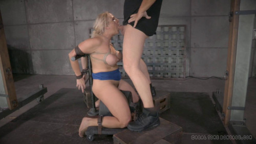 BDSM Angel Allwood orgasmblasted on sybian and does brutal inverted