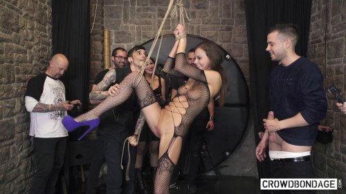 BDSM Crowd Bondage And  Hardcore Humiliation Part 1
