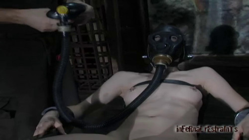 BDSM Hard bondage, torment and torture for naked young girl