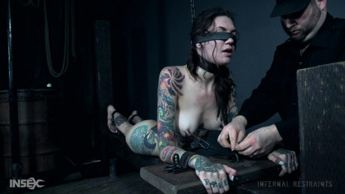 BDSM Rocky Emerson Enjoys Inescapable Metal Bondage