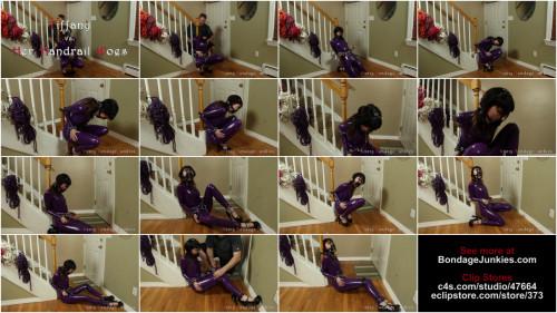 BDSM Latex Tiffany vs. Her Handrail Woes