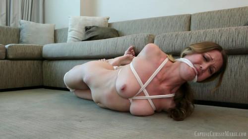 BDSM Chrissys Hogtied Torment