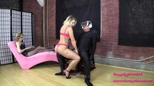 Femdom and Strapon Cali and Lola-Ruined Four Times and Fed Cum while Under Voice Control