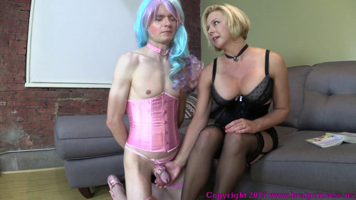 Femdom and Strapon Lick my feet goat