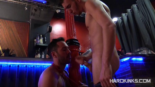 Gay BDSM Delivering Foot (Mikel Bosco, Tyler Roding)