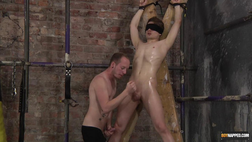 Gay BDSM His Uncut Twink Cock Gets So Hard!