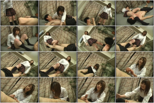 Femdom and Strapon Asian Femdom with blowjob & painful receptions of struggle of young girl