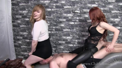 Femdom and Strapon Goddess Mia - Two Asses Too Many