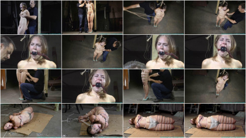 BDSM Hard bondage, hogtie and strappado for naked sexy girl HD 1080p