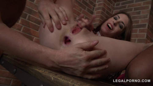 Fisting and Dildo Anna De Ville And Rebecca Volpetti lick And fist each others ass and fuck with 3 guys (2016)