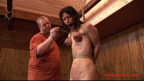 BDSM Tight bondage, strappado, spanking and torture for naked bitch Full HD1080
