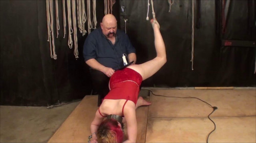 bdsm Tony Staked and caned Part Three