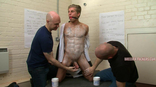 Gay BDSM Trained to French kiss men - Bobby