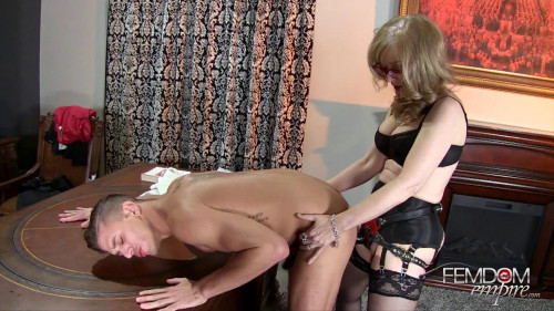 Femdom and Strapon Nina Hartley - Strapon Correction