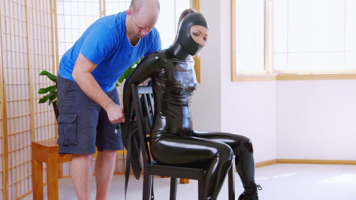 BDSM Latex Chair Bound Gwen
