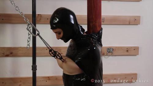 BDSM Latex Mesa vs. Her Tit Torment