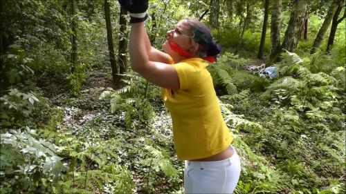 BDSM Fayth Bound in Woods Predicament