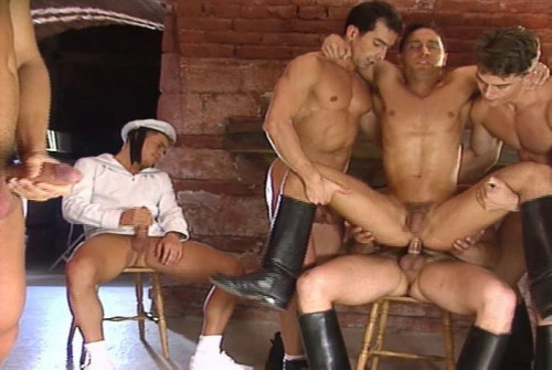 Muscle European Soldiers In Orgies