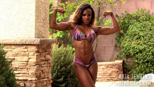 Akia Jenkins - Fitness Model Female Muscle