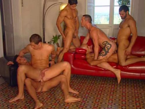 Dynamic flip flop gangbang Gay Porn Movie