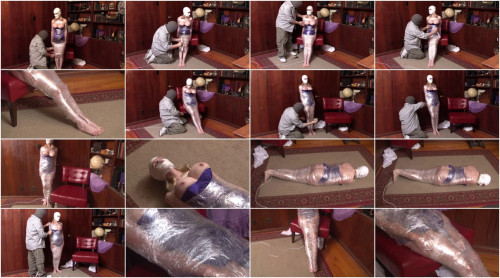 Bound and Gagged – Mummification in Packing Tape – part 1 – Jon Tapes Lorelei