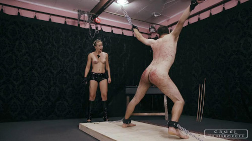 Cruel Punishments - Mistress Anette - Brutal shrieks from the slave Part 2 Femdom and Strapon