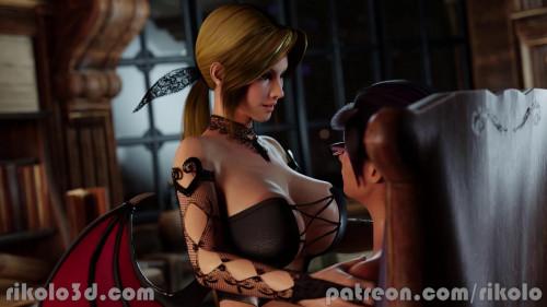 Succubus Helena Rides Rebecca 3D Porno
