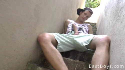 EastBoys - Handjob - Observation tower and a big cock - Thomas Fiaty Gay Solo