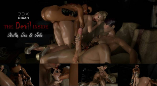 Stella, Ona & Jolie - The Devil Inside 3D Porno