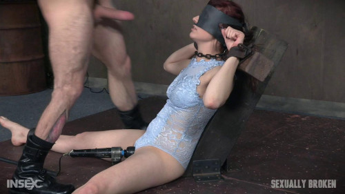 Stephie Staar is bound on a vibrator BDSM
